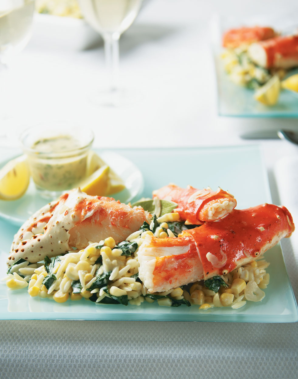 King Crab Legs & Creamy Orzotto