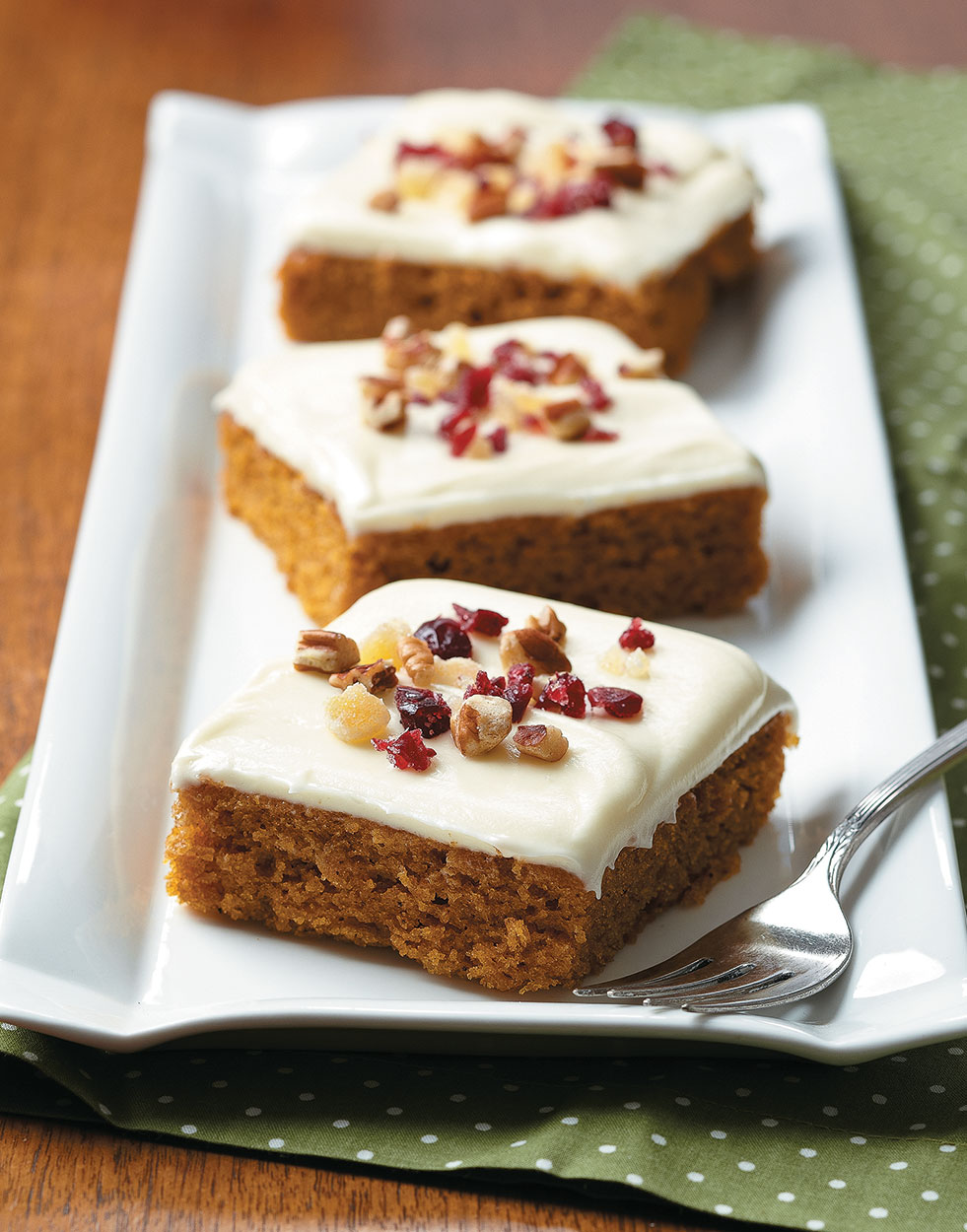 Pumpkin Bars with White Chocolate-Cream Cheese Frosting