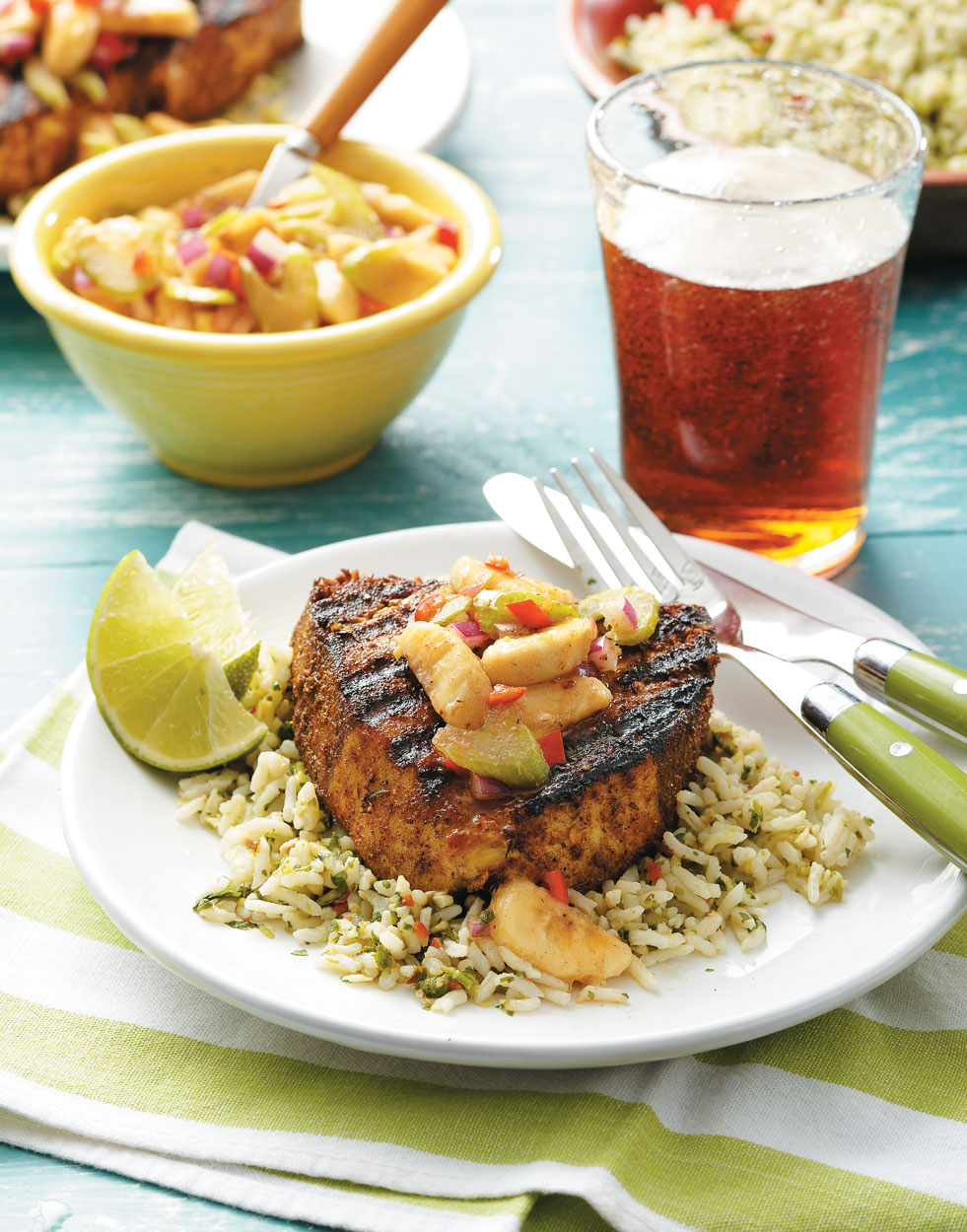 St. Lucia Jerk Fish with Banana Salsa