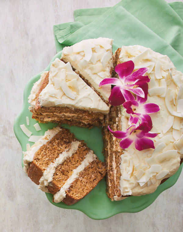 Tropical Hummingbird Cake with Whipped Cream Cheese & Rum Frosting