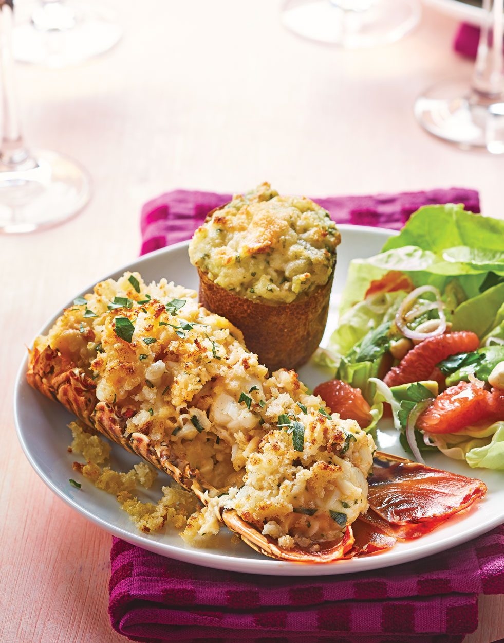 Lobster Thermidor for Two with Creamy Tarragon Sauce