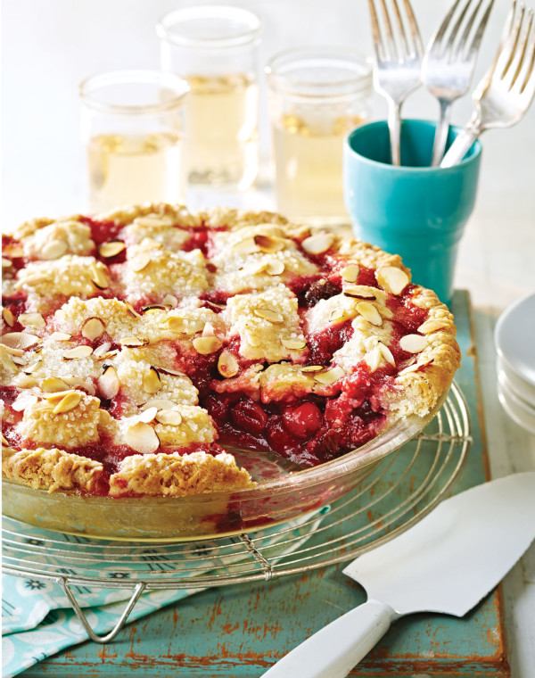 Cherry-Almond Pie with Lattice Top