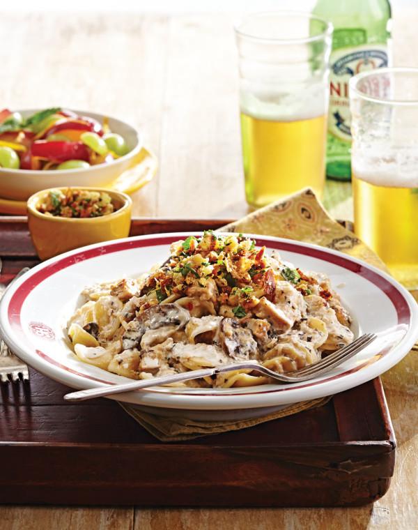 Orecchiette alla Norcina with Walnut Gremolata