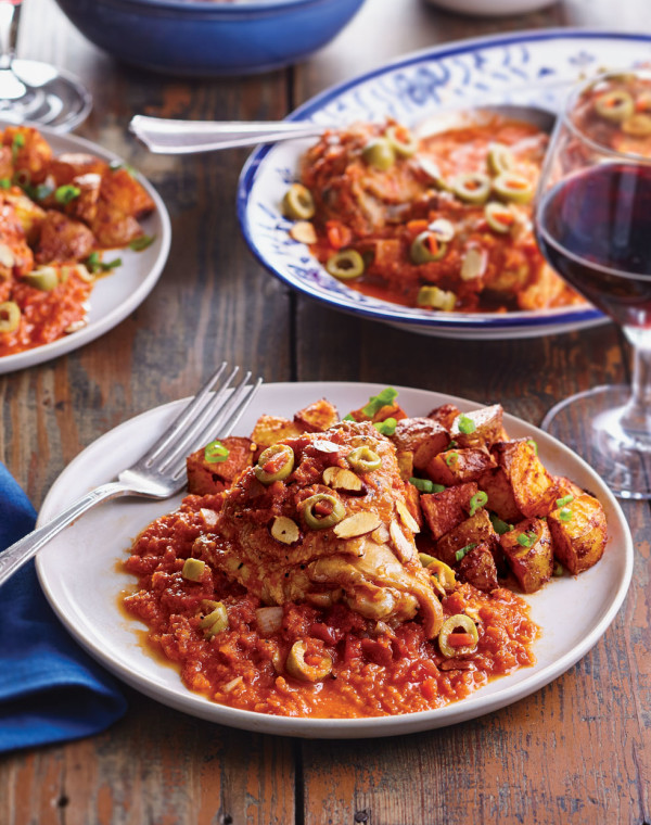 Spanish Chicken with Olives & Almonds