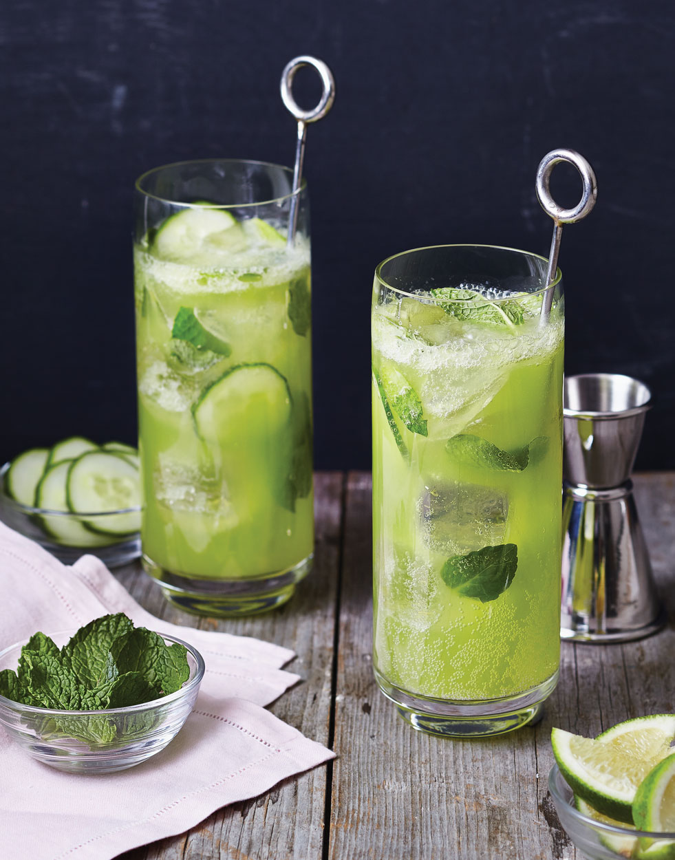 Honeydew Mojito with Cucumber Simple Syrup