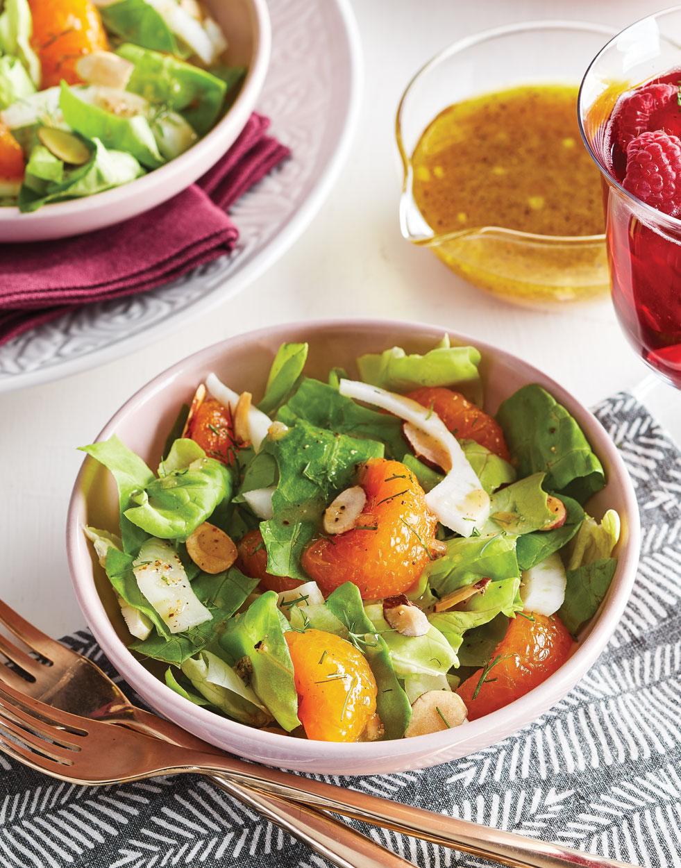 Butter Lettuce Salad with Fennel & Mandarin Oranges Recipe