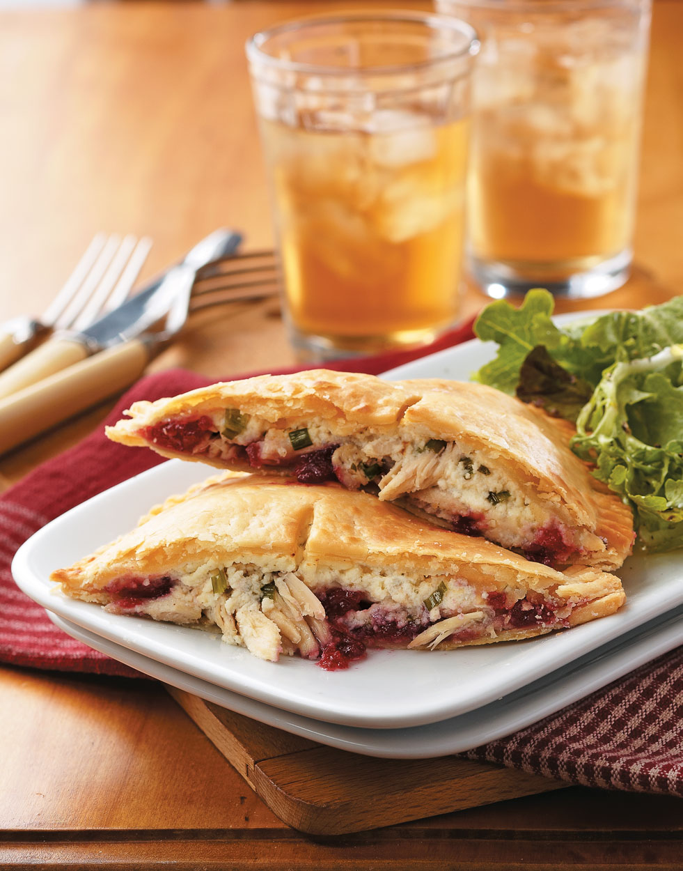 Cranberry & Turkey Pocket Pies with Boursin