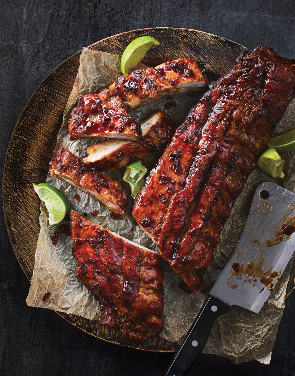 Mezcal Ribs with Margarita Glaze