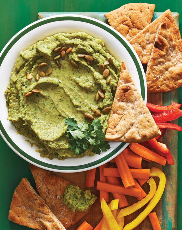 Avocado Hummus with Pepitas