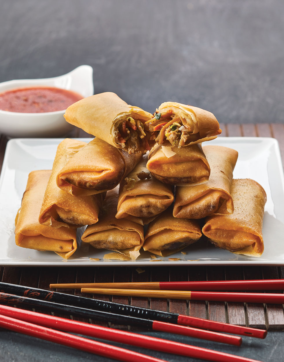 Fried Spring Rolls with chicken