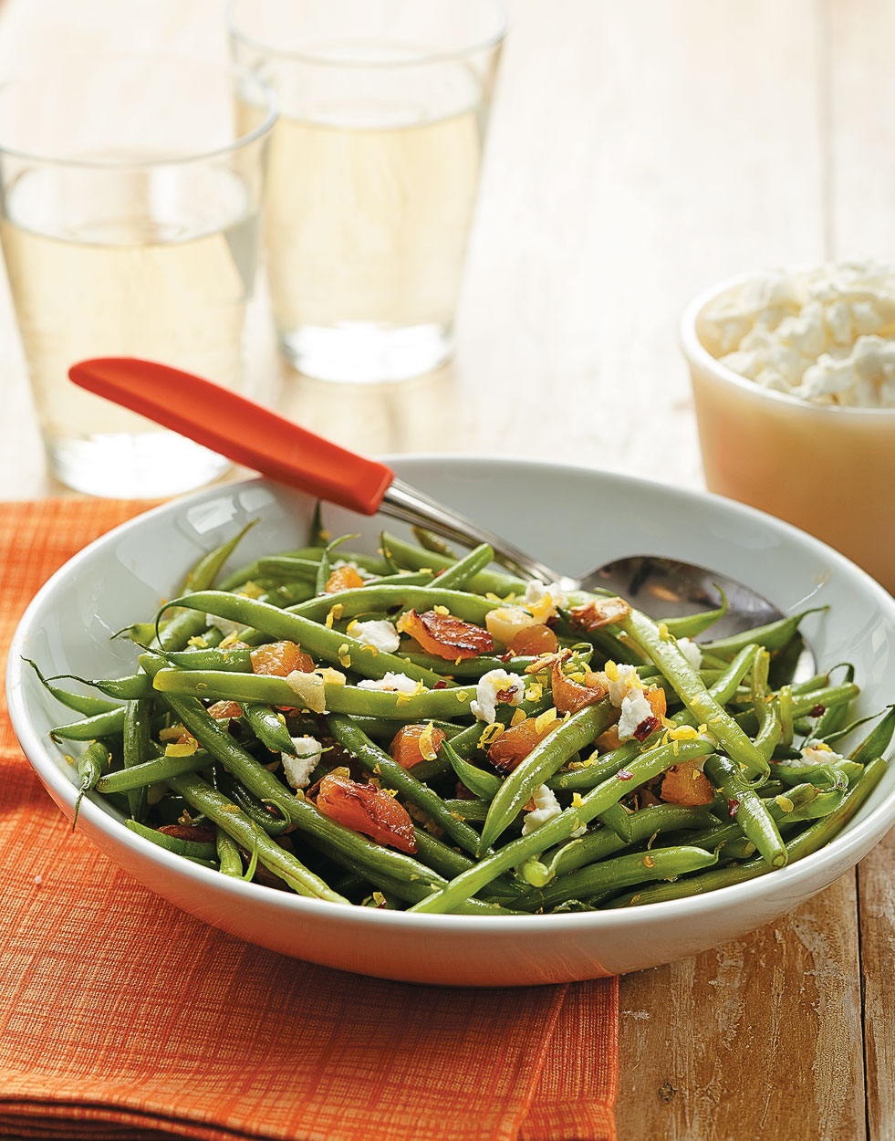 Haricots Verts with Lemon & Apricots