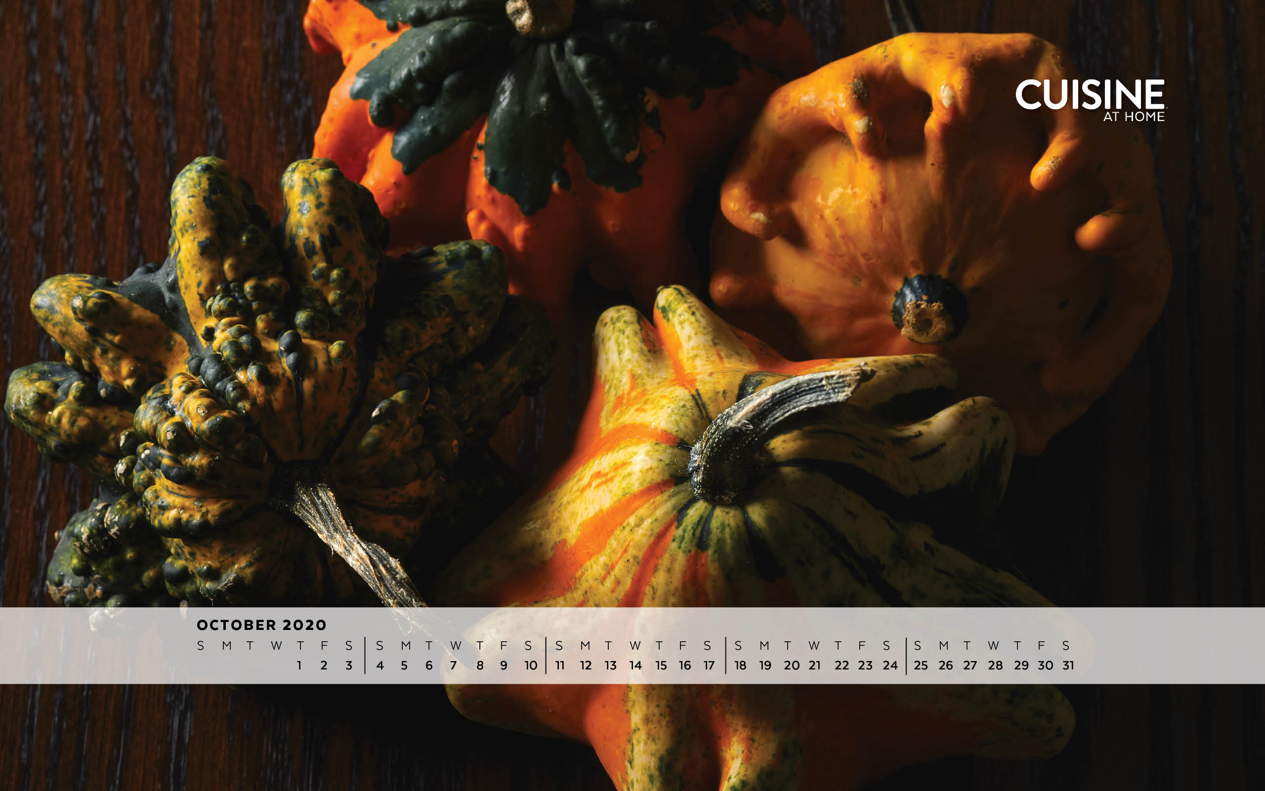 Free Desktop Wallpaper image for October 2020 from Cuisine at Home