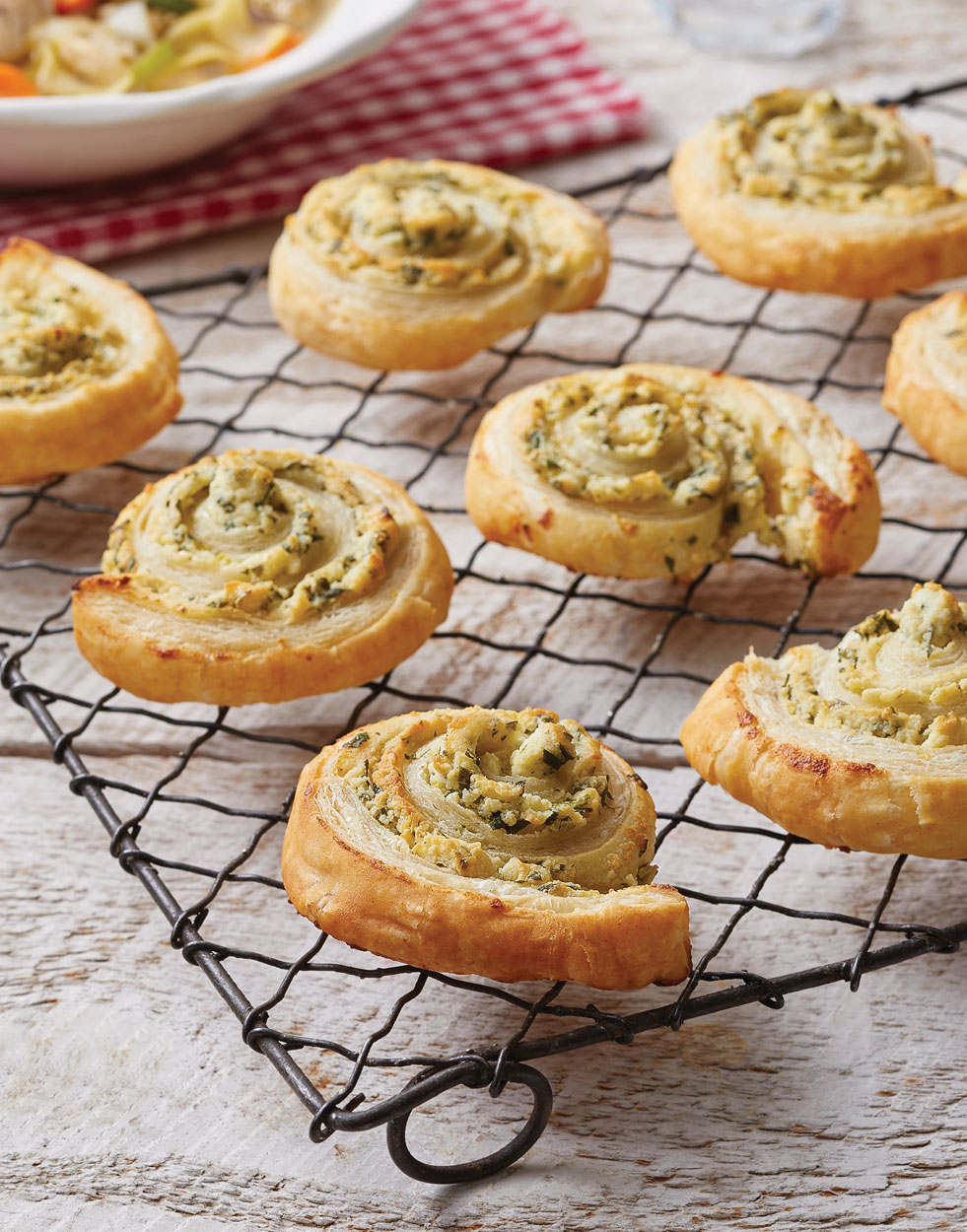 Puff Pastry Pinwheels with Boursin Cheese