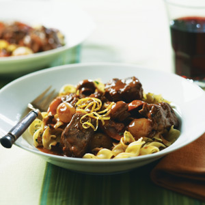 Beef Bourguignonne with Onions & Mushrooms