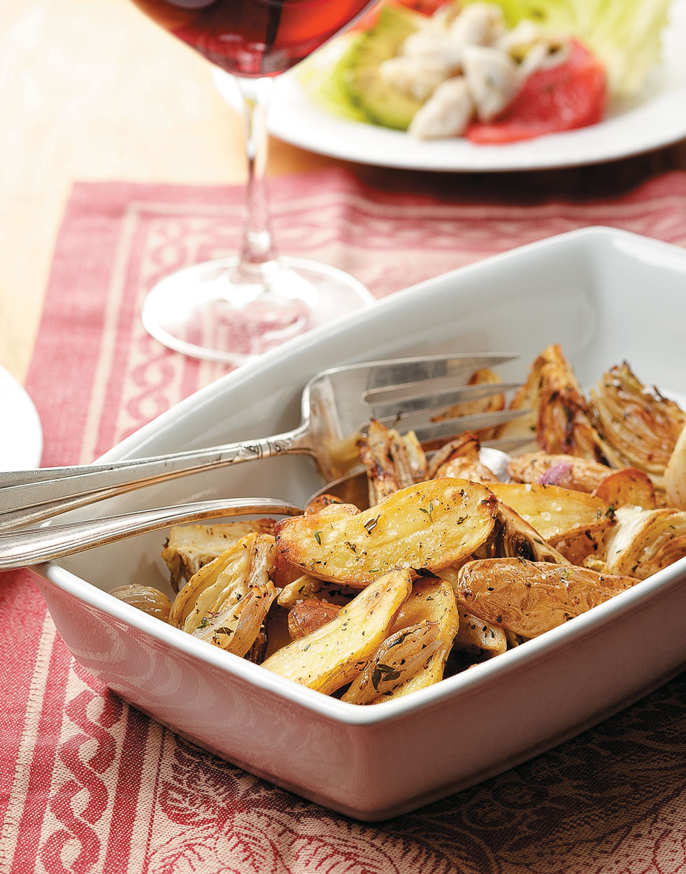 Roasted Potatoes, Fennel & Shallots