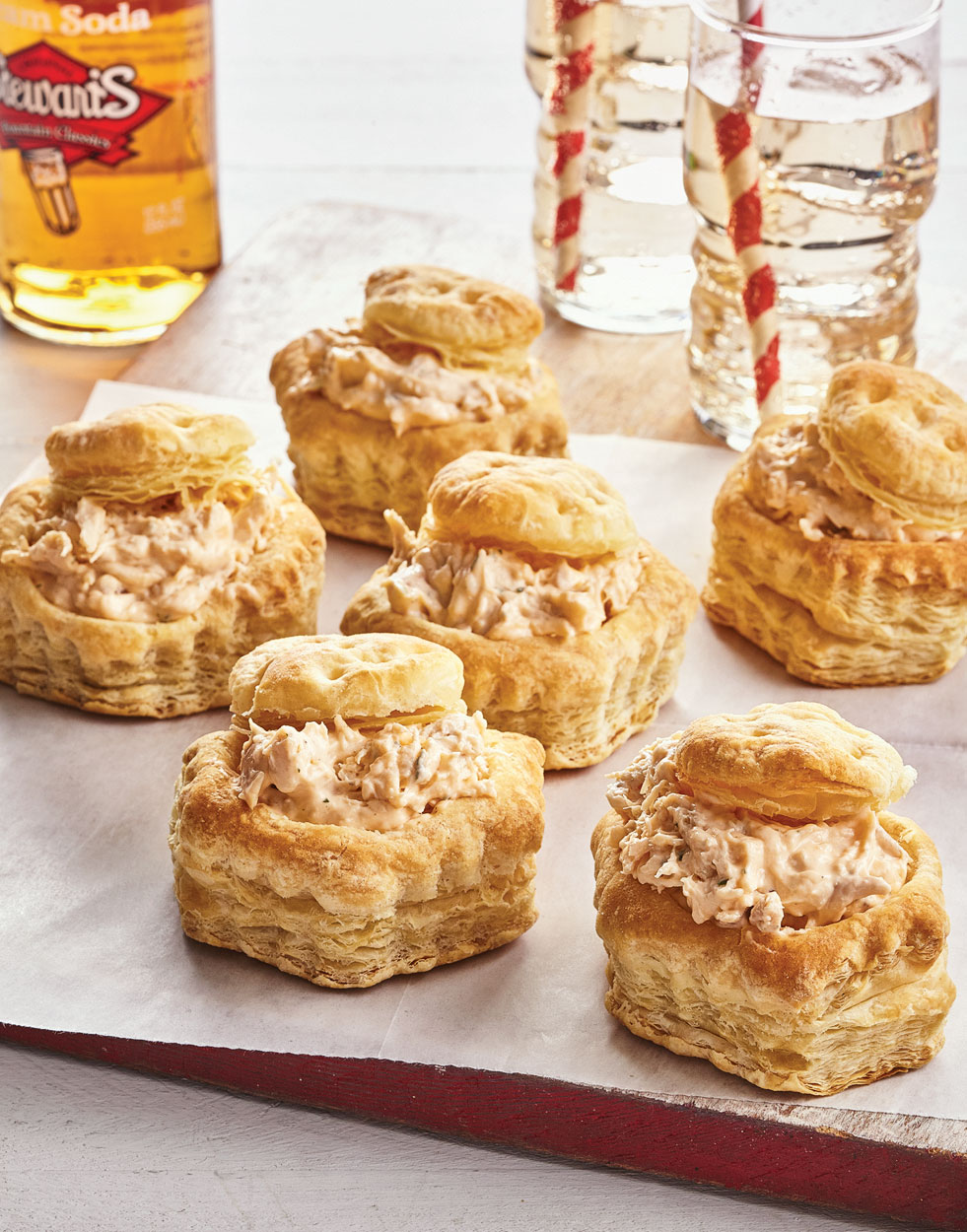 Creamy Chicken Ranch Puffs