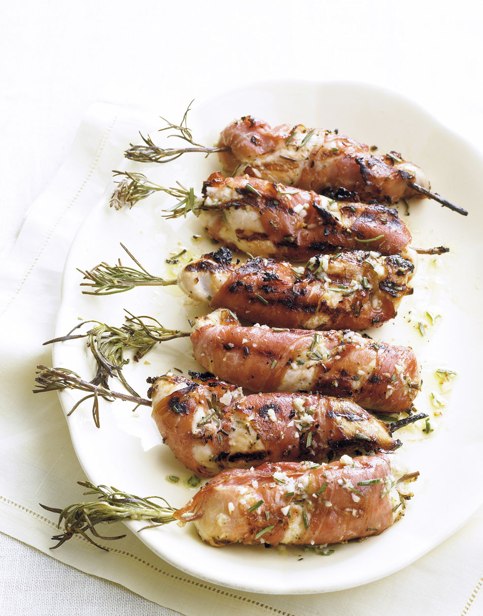 Prosciutto-Wrapped Chicken Tenders with Lemon & Rosemary
