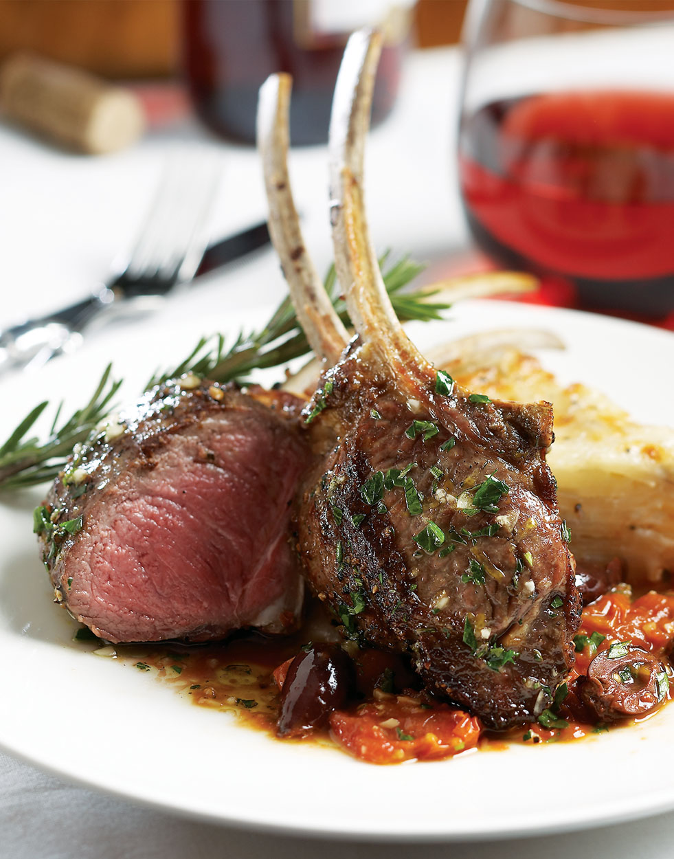 Grilled Lamb Rib Chops with Bistecca Oil