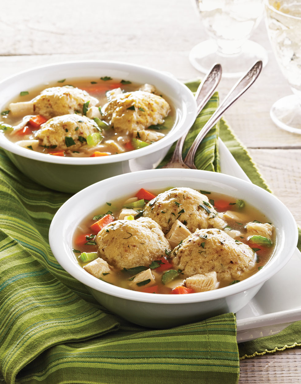 Pot-Roasted Chicken Soup with Matzo Dumplings