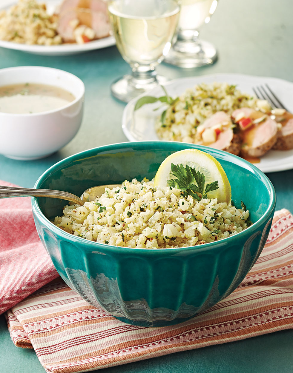 Cauliflower Rice with parsley & lemon
