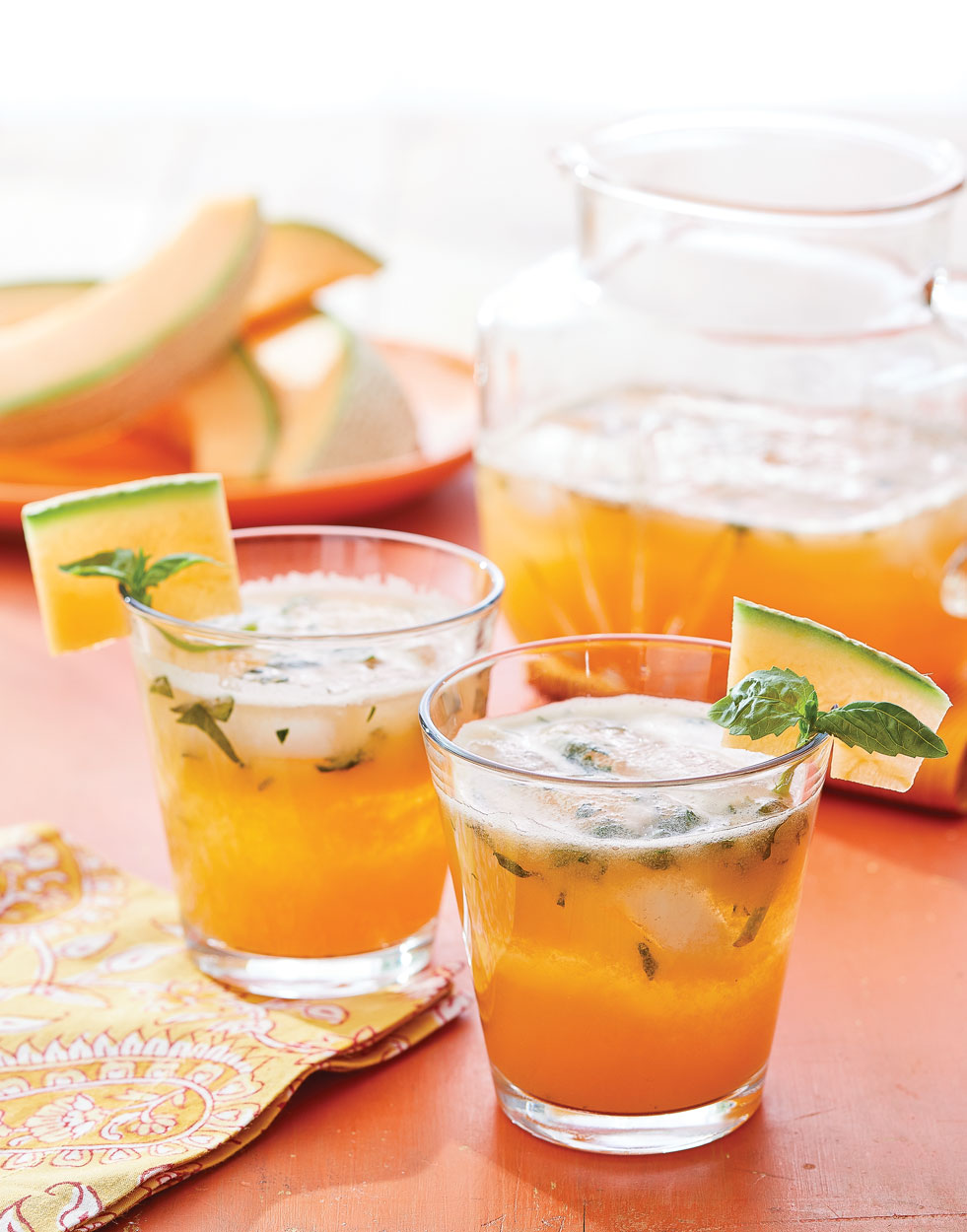 Cantaloupe Agua Fresca with Fresh Basil