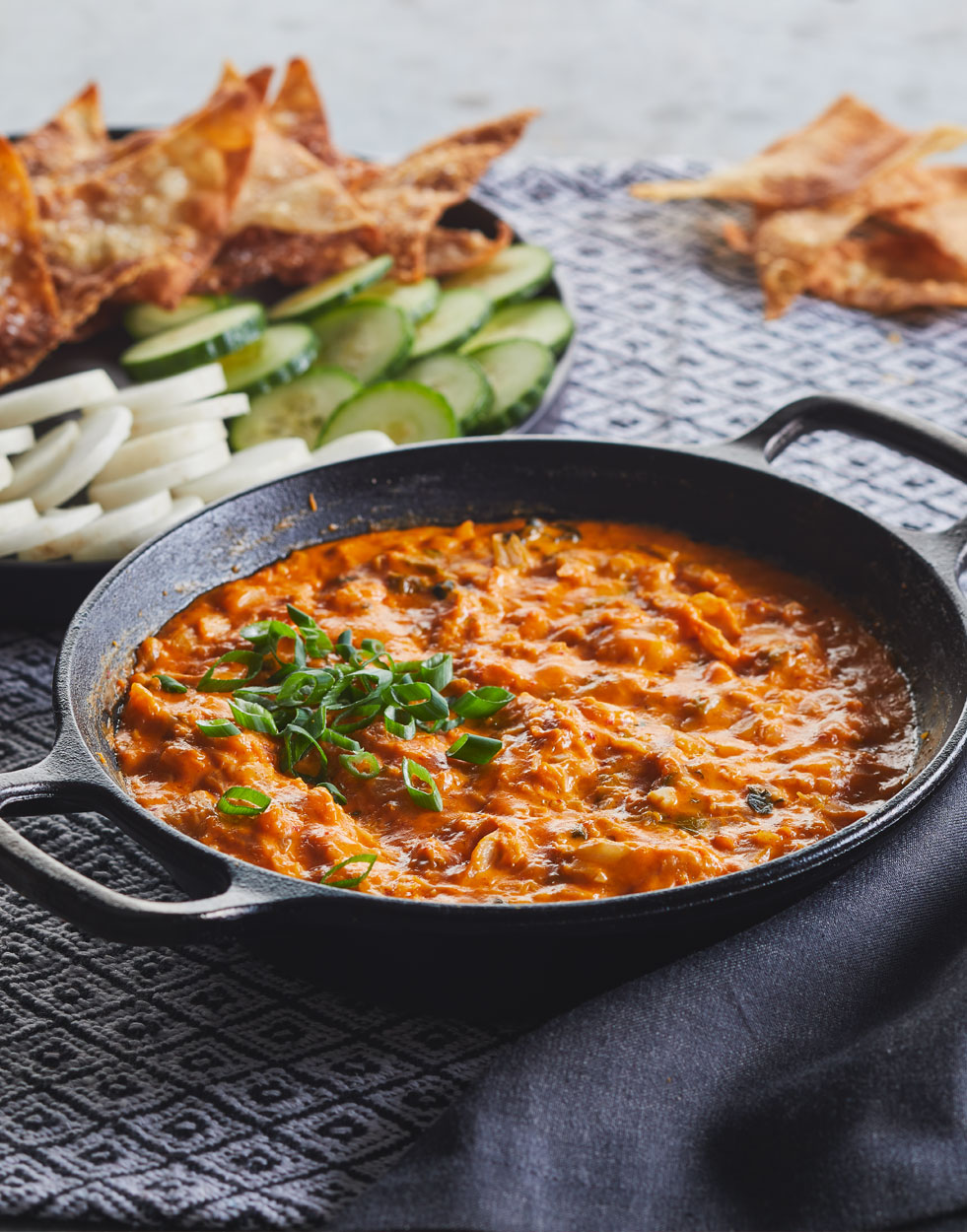 Cheesy Grilled Kimchi Dip