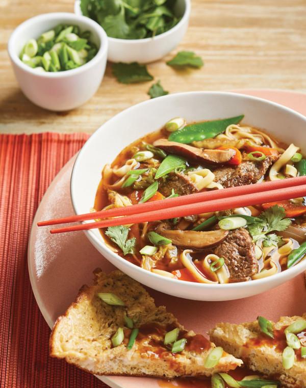 Asian Steak & Noodle Soup