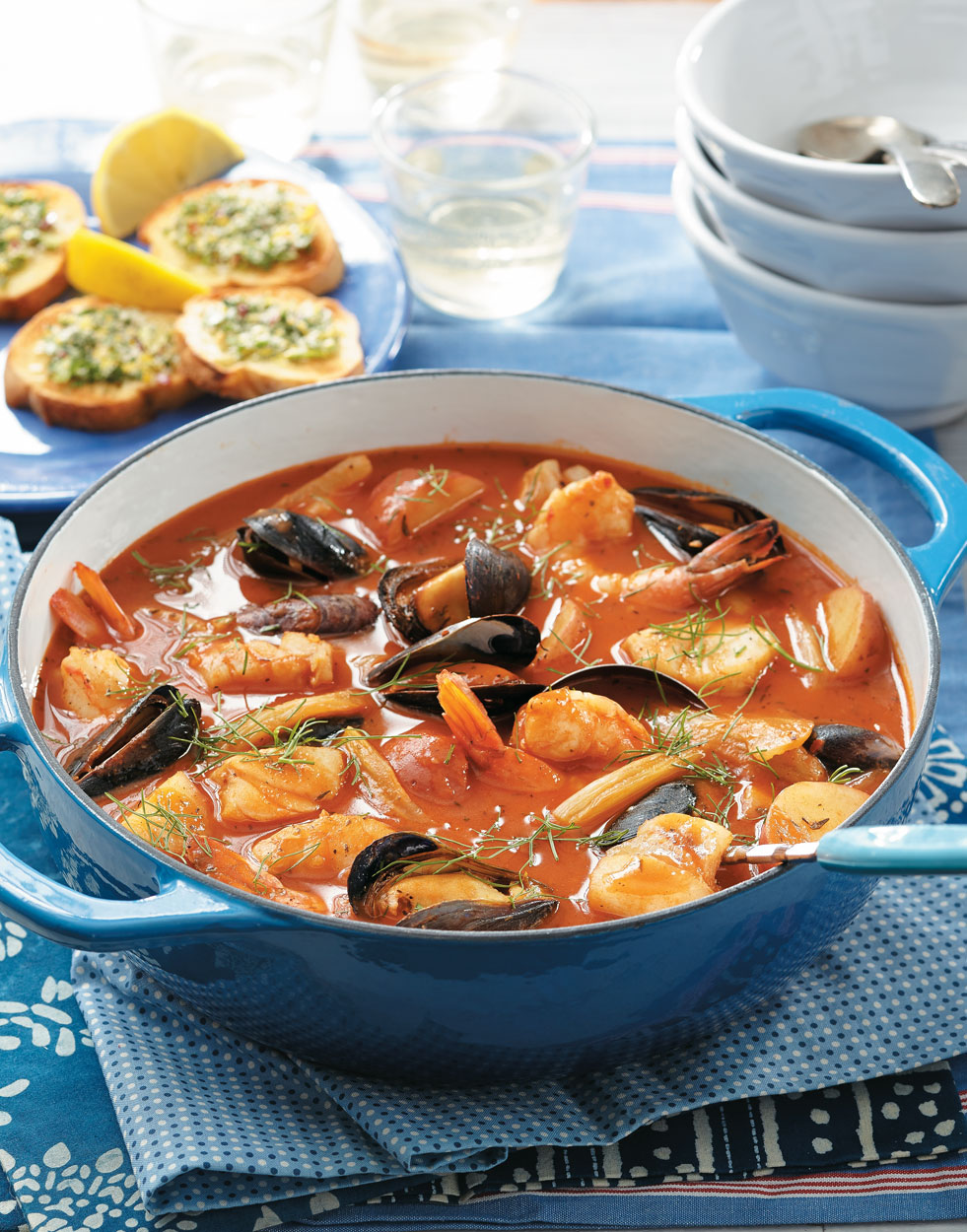 Cioppino with Cod, Mussels & Shrimp