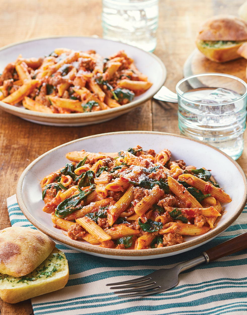Sausage Ragu with Spinach