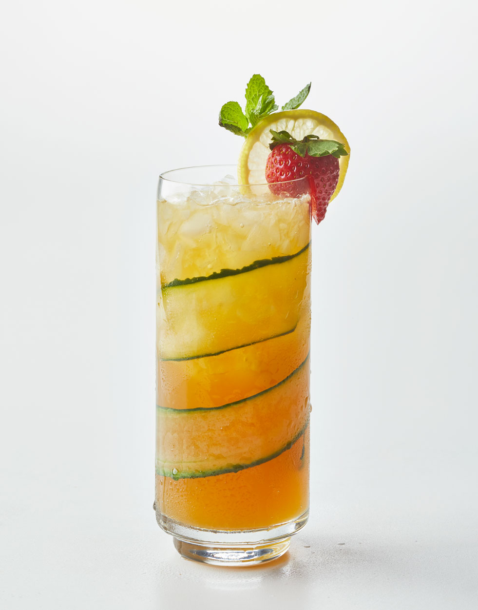 Pimm's Cup with cucumber simple syrup