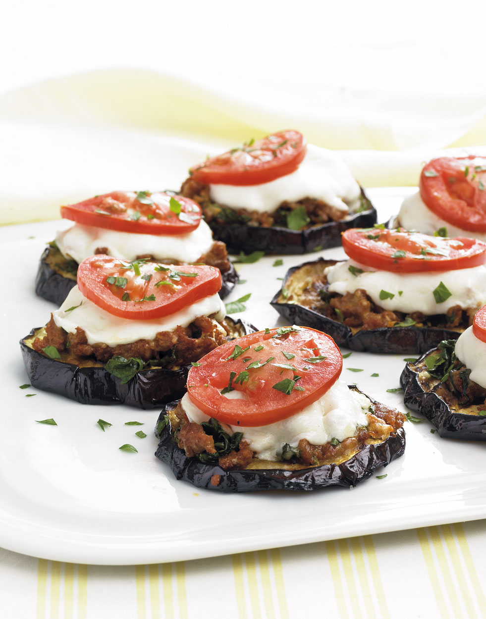 Eggplant Slices With Sausage Fresh Mozzarella Recipe