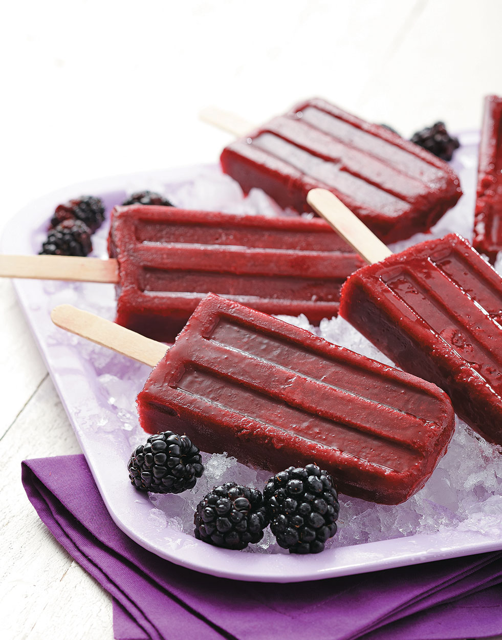 Blackberry Ice Pops