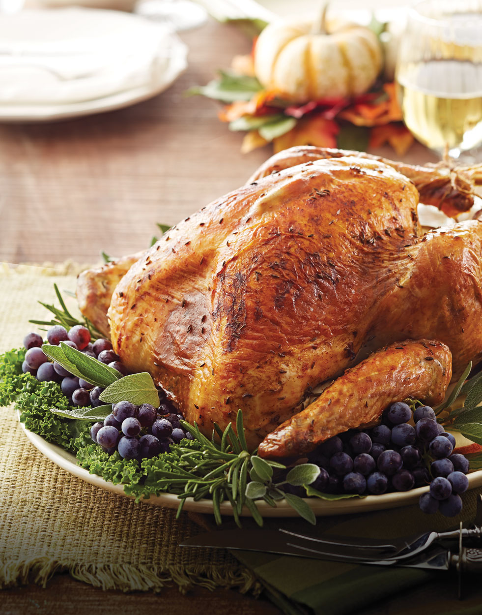 Roasted Turkey with caraway butter