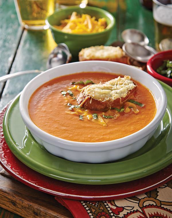 Tomato-Cheddar Soup