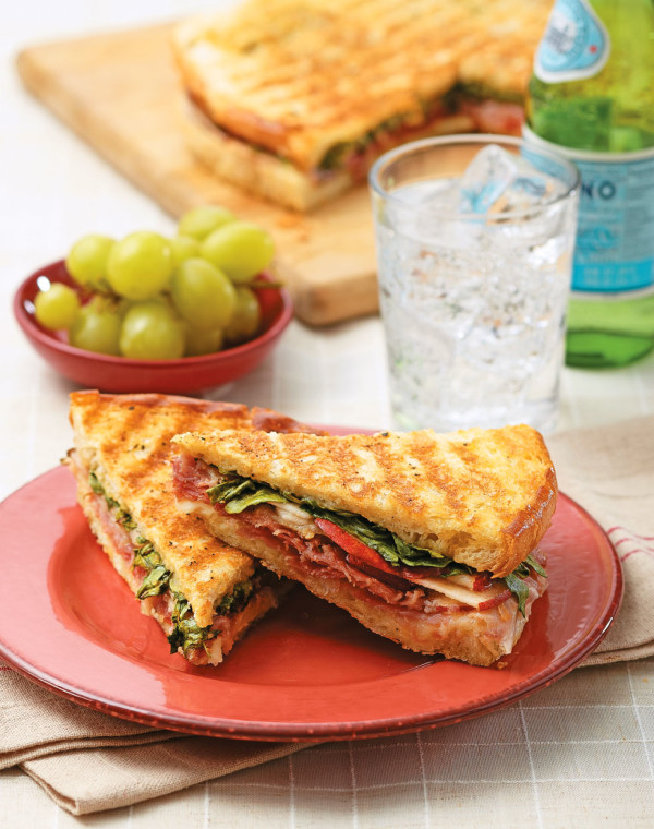 Prosciutto-Fontina Panini with honey dijon