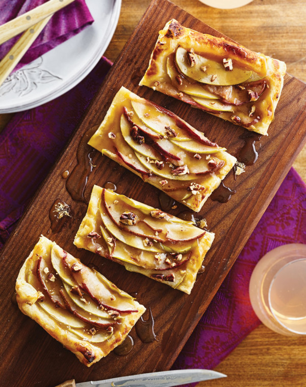 Apple-Pear Tarts with Caramel Sauce