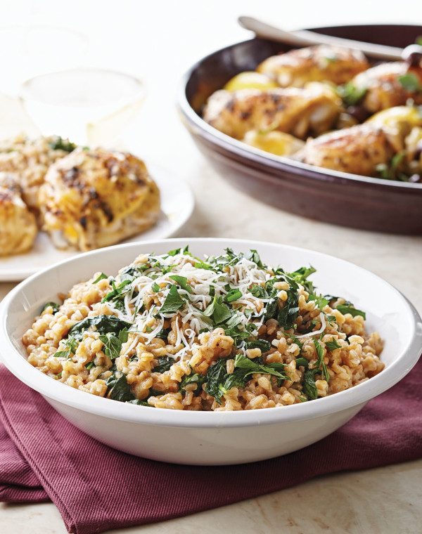 Farro with Spinach & Parmesan