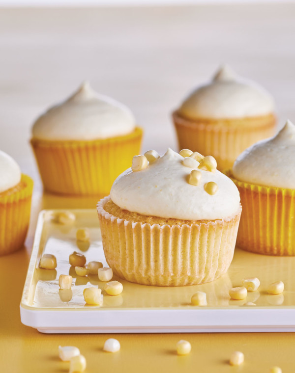 Sweet Corn Cupcakes with Corn Cream