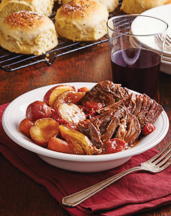 Smoky Pot Roast with Fire-Roasted Tomatoes
