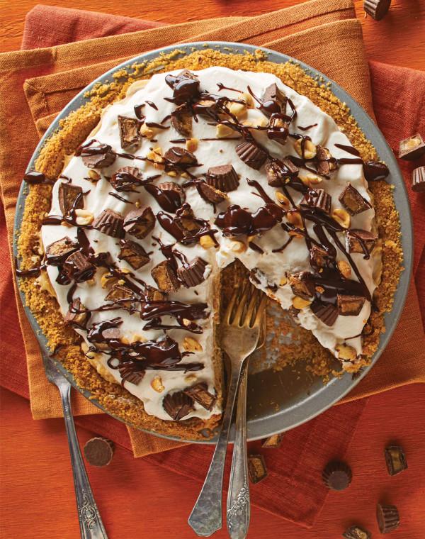 Peanut Butter Pie with ganache