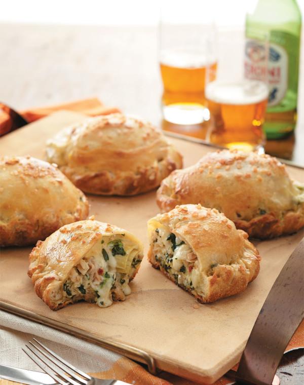 Chicken, Spinach & Artichoke Calzones