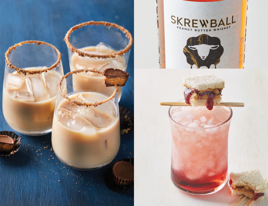 4 Skrewball Peanut Butter Whiskey Cocktails