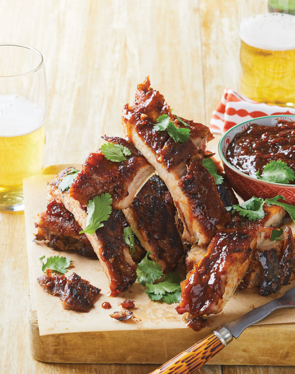 Baby Back Ribs with honey-miso barbecue sauce
