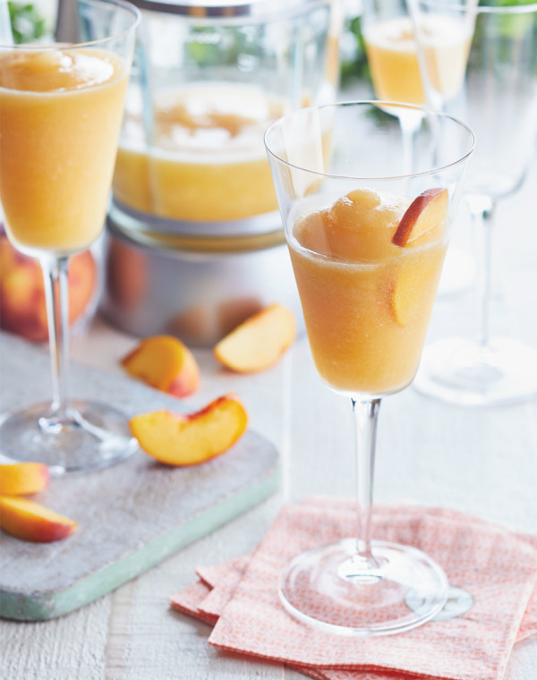 Frozen Peach Daiquiris