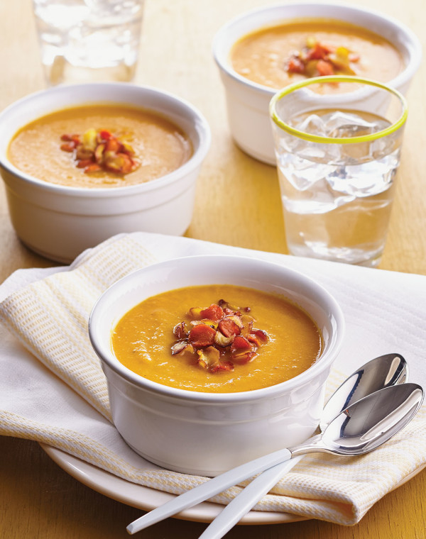 Roasted Carrot & Parsnip Soup with apple
