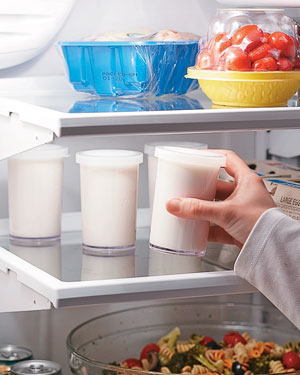 Refrigerating homemade yogurt