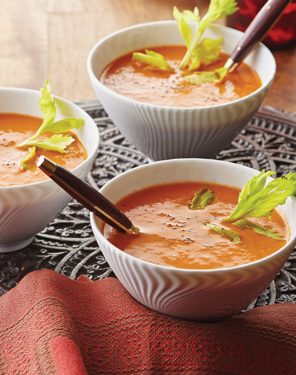 Quick & Creamy Tomato Soup with Celery