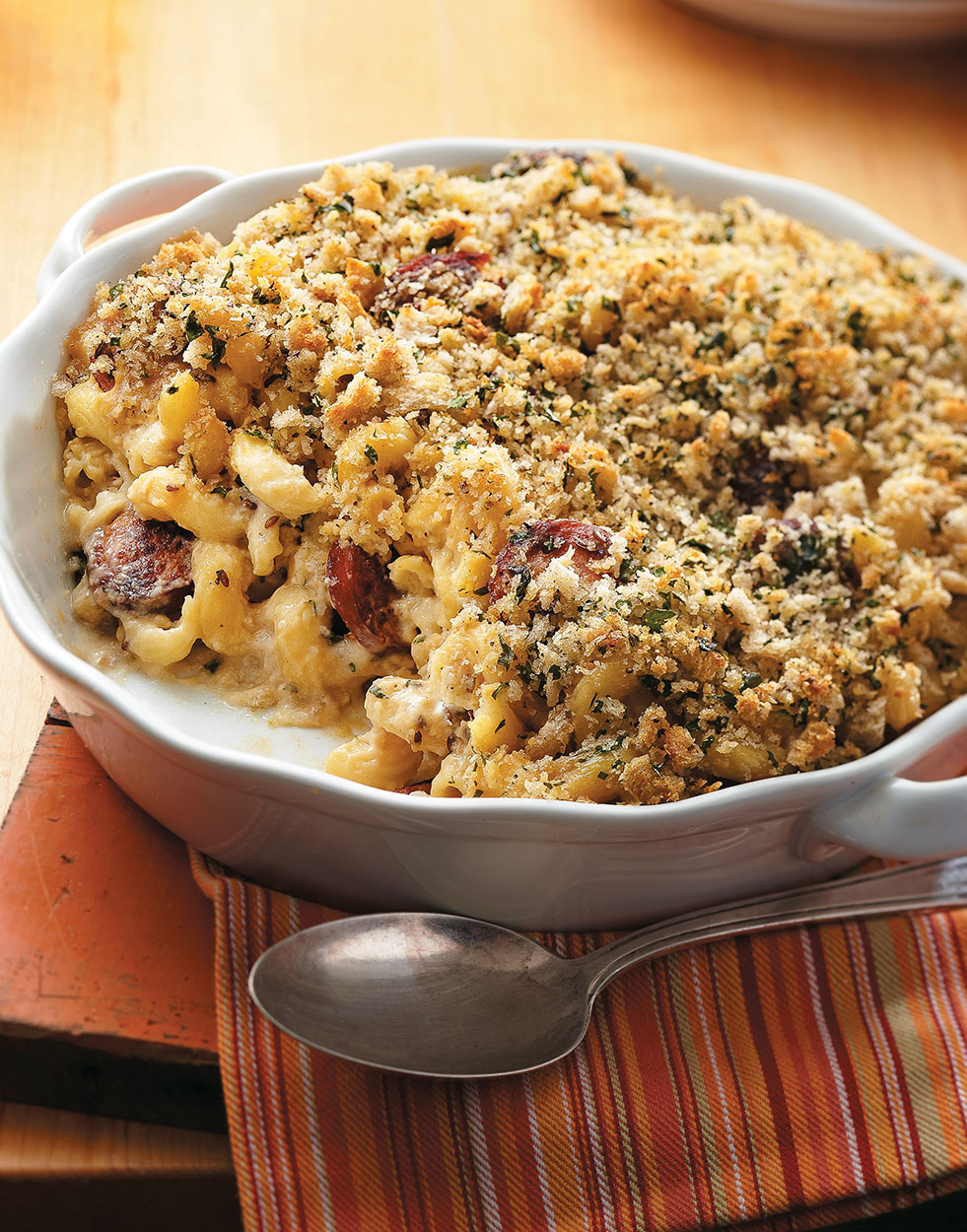 Alpine Mac 'n Cheese with kielbasa & dijon