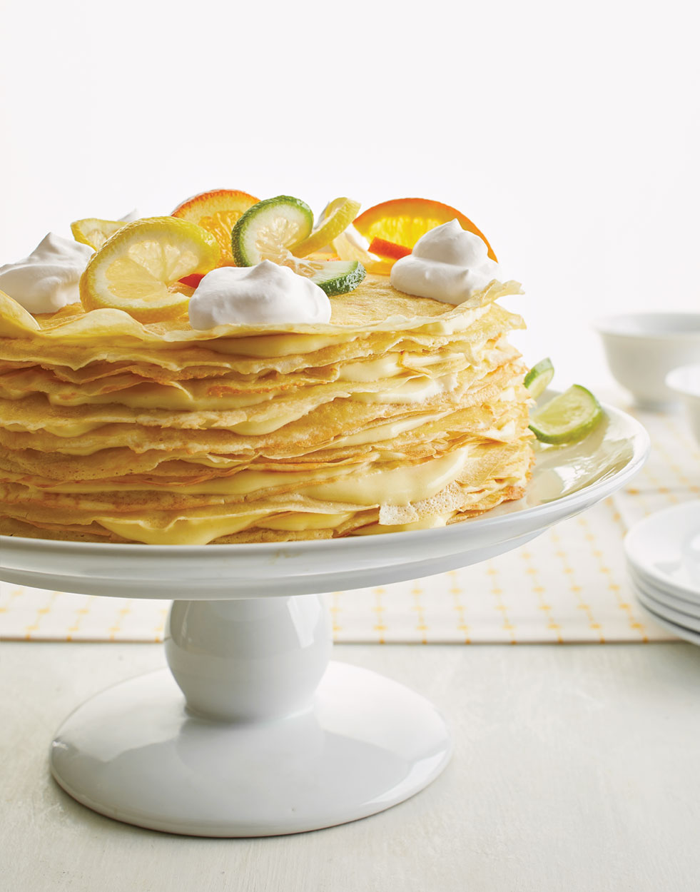 Crêpe Cake with triple-citrus mousse
