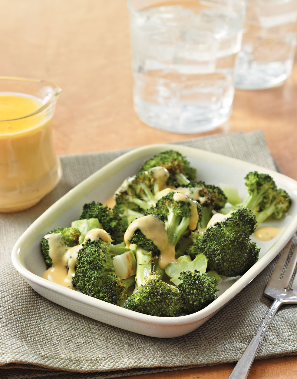 Roasted Broccoli With Cheese Sauce Recipe